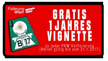 1 Jahres Vignette GRATIS bei PKW Vollfolierung