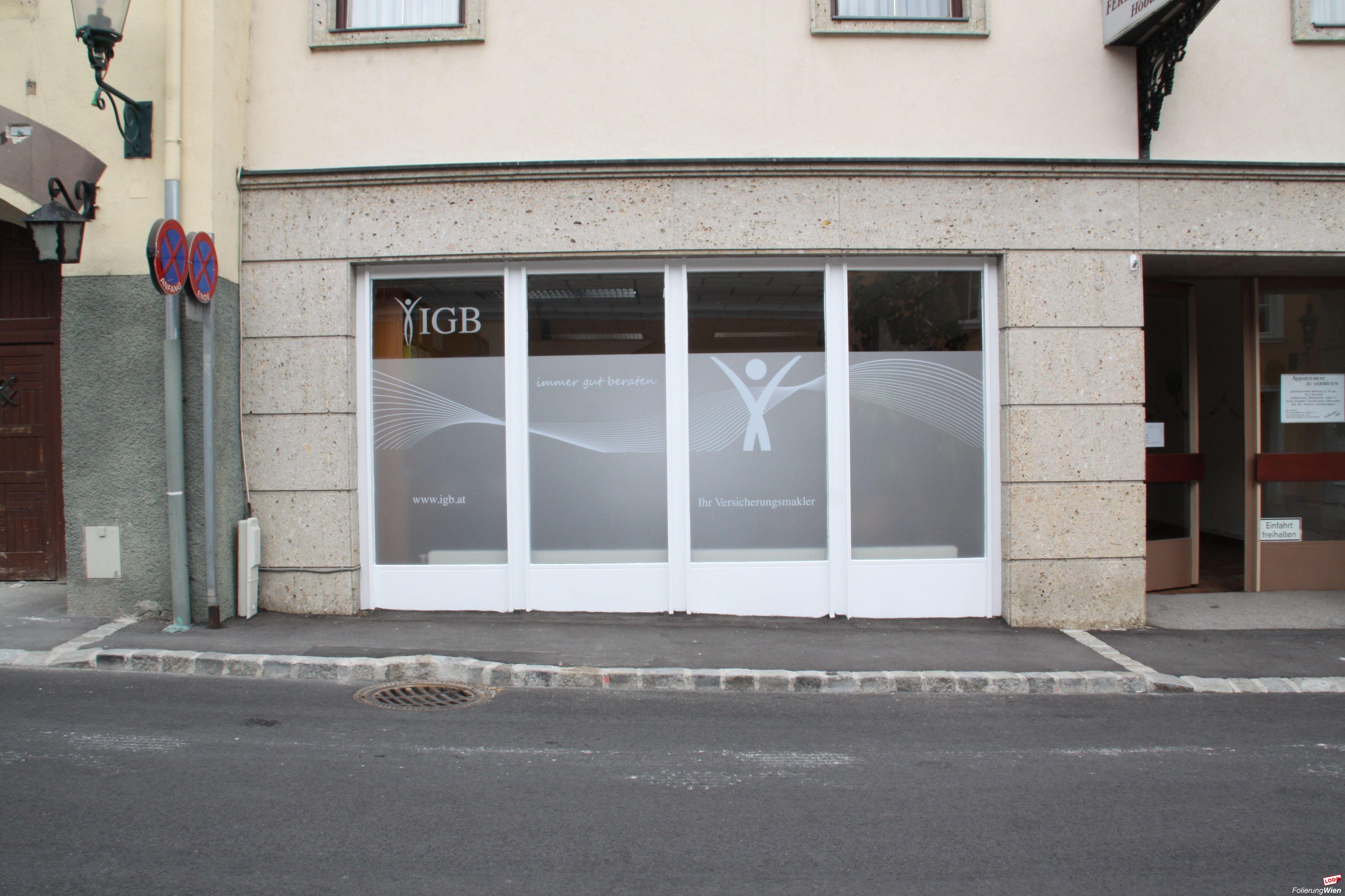 Gebäude Glasflächen Wand Folierung
