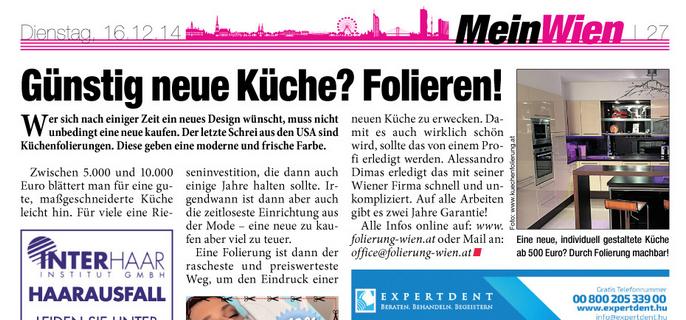 Küchenfolierung Wien